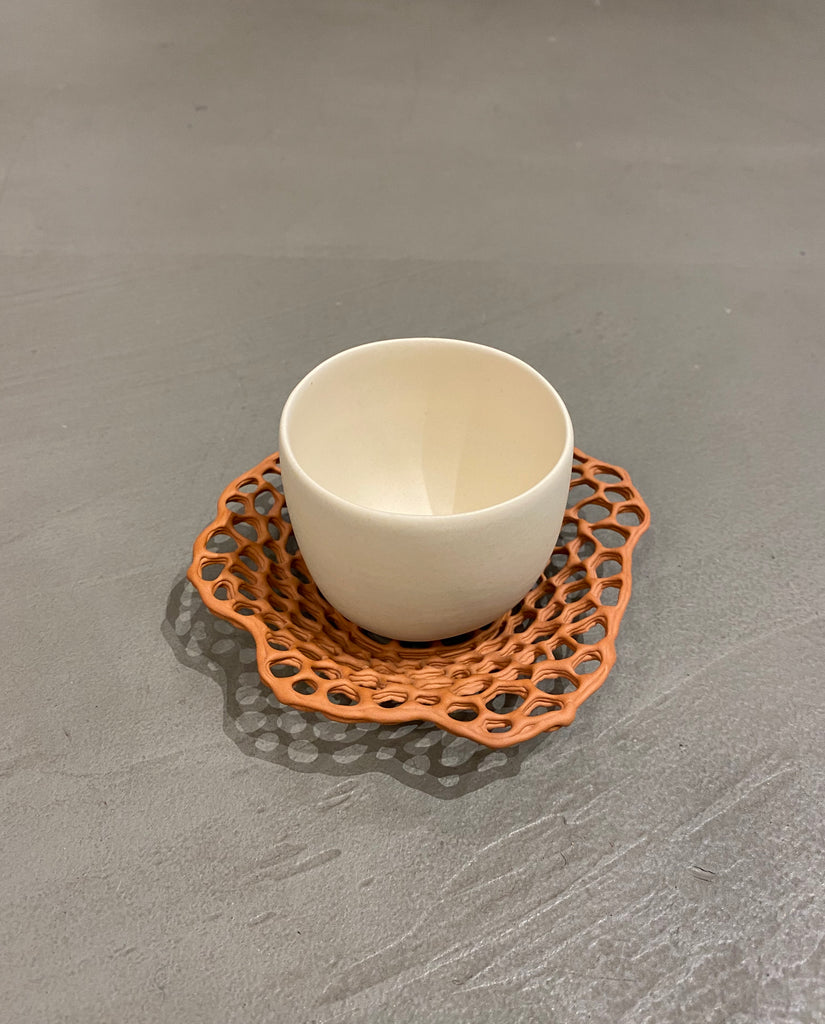 Lace Cream Demitasse Cup - H+E Goods Company