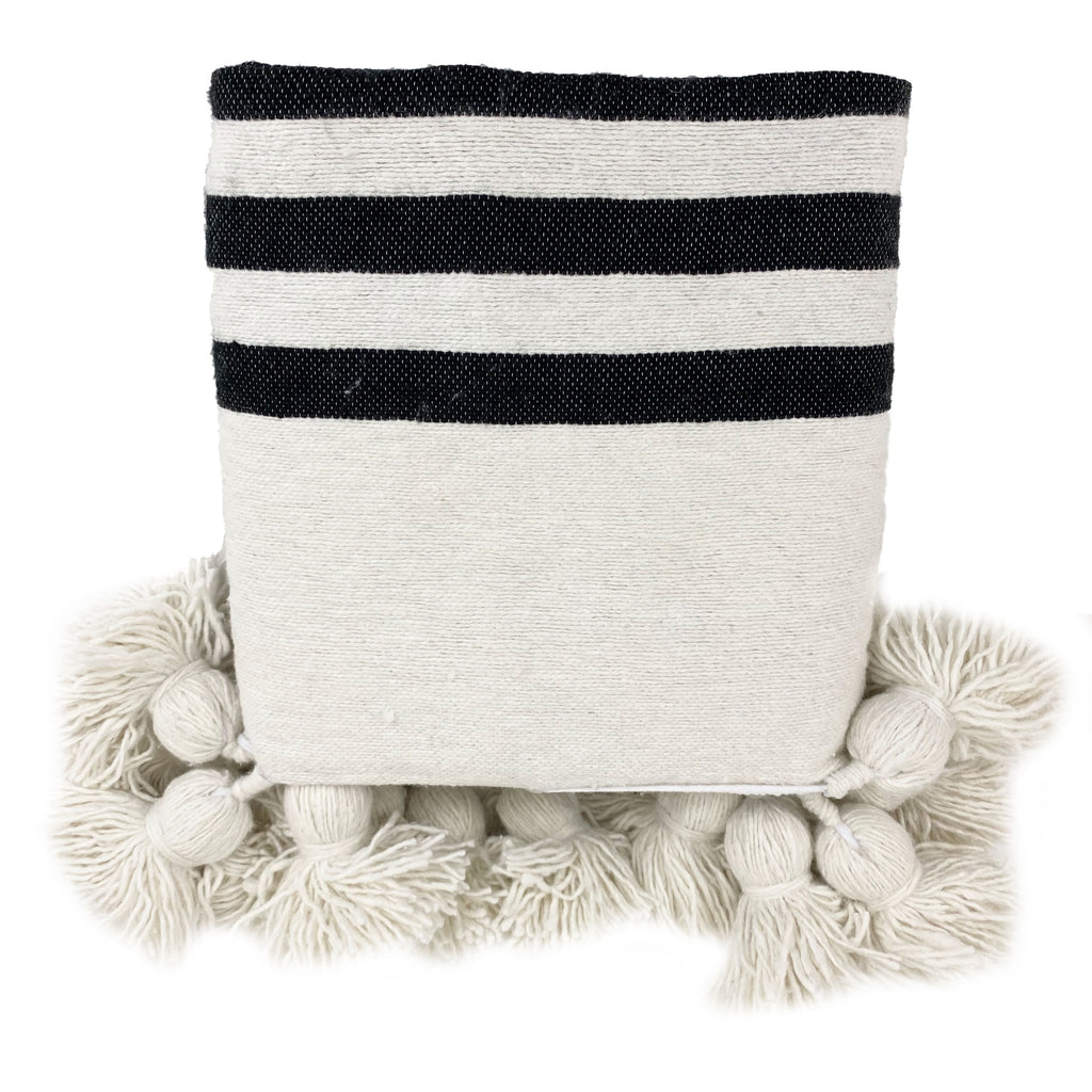 Moroccan Nesne Cotton Throw Blanket - H+E Goods Company