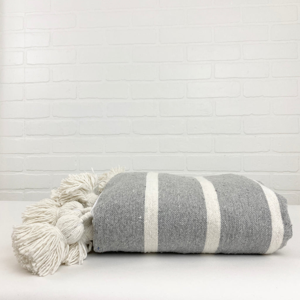 Moroccan Babil Cotton Throw Blanket - H+E Goods Company