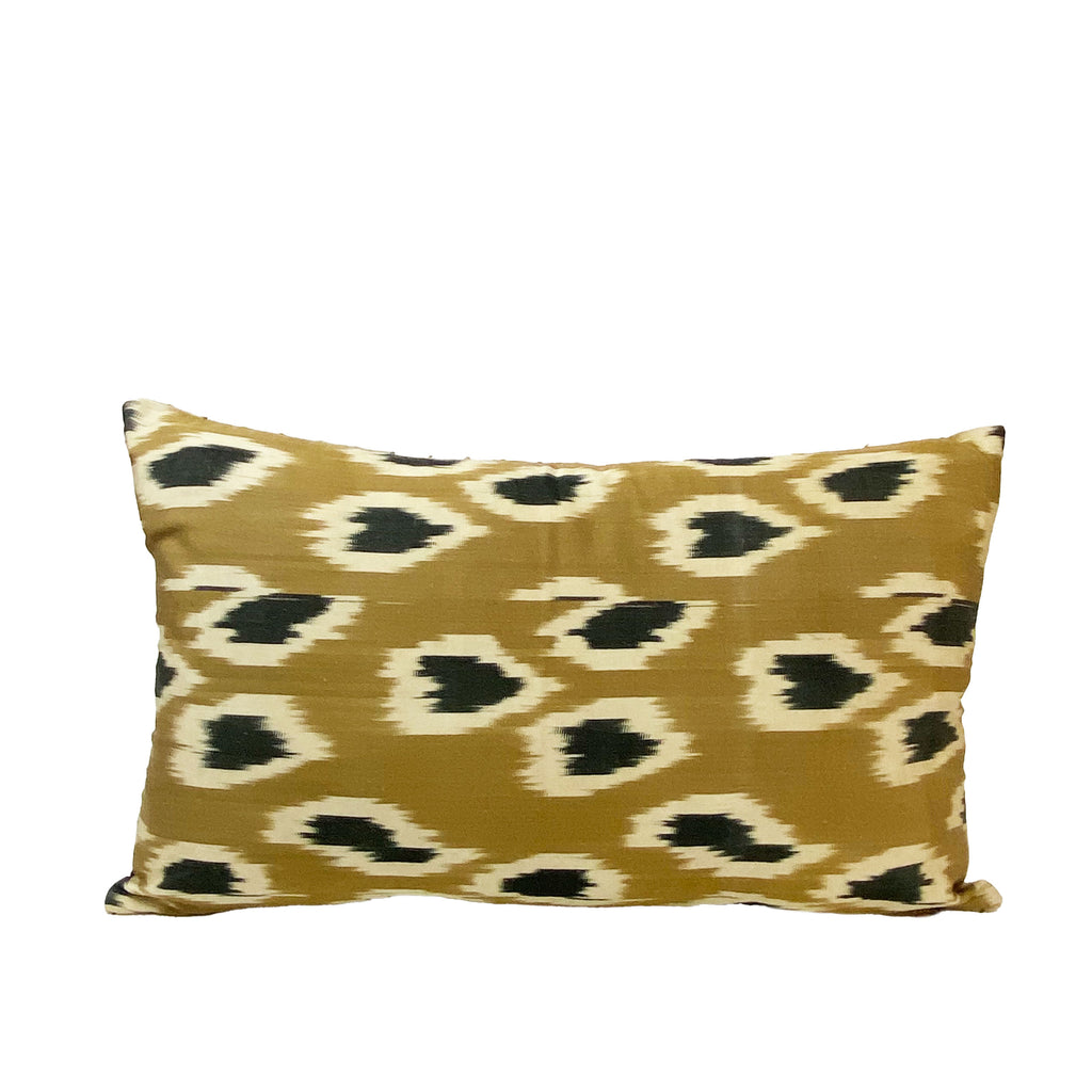 Yarn Stripe Ikat Lumbar Pillow - H+E Goods Company