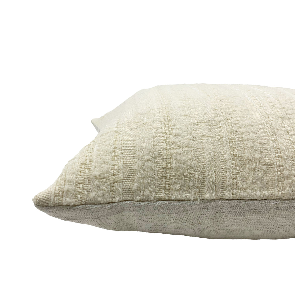 Crema Textured Throw Pillow - H+E Goods Company