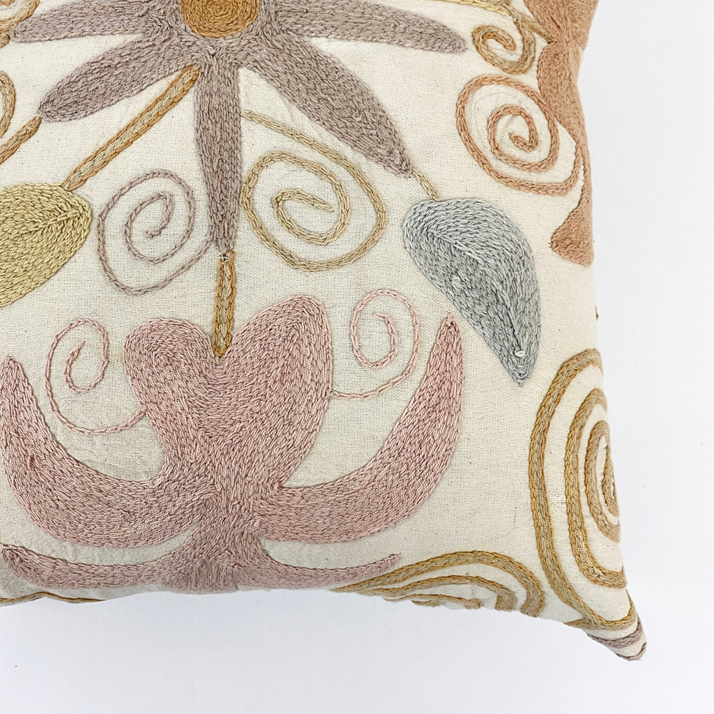 Lale Embroidered Pillow - H+E Goods Company