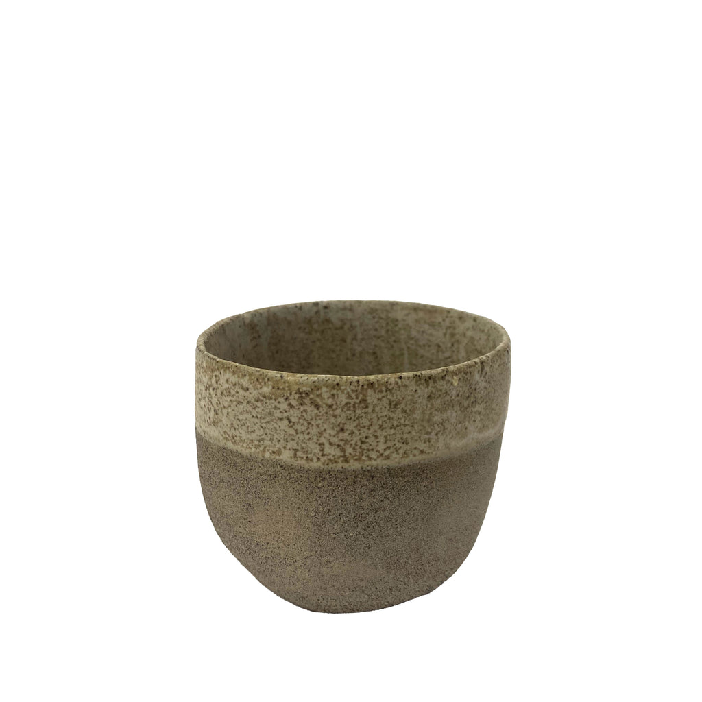 Stoneware Two Tone Coffee Cup - H+E Goods Company
