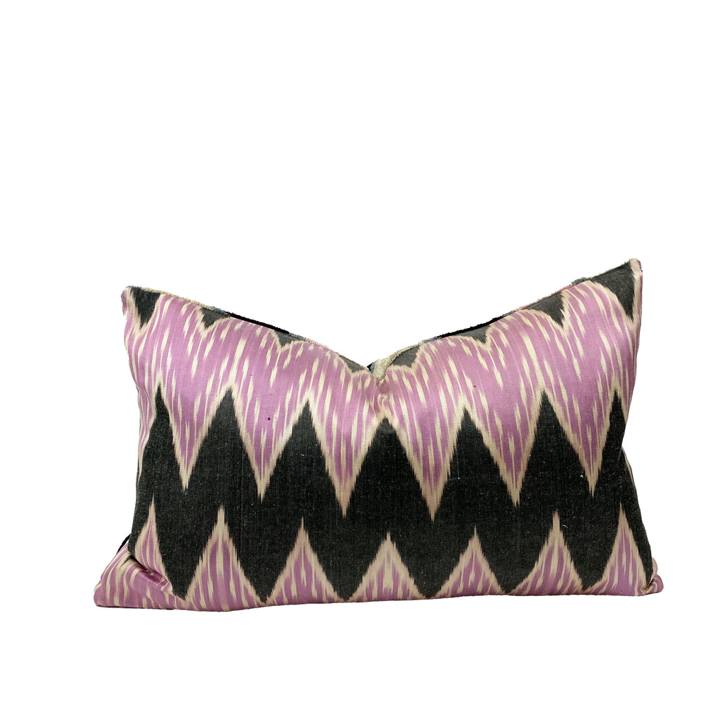 Three of Hearts Ikat Lumbar Pillow - H+E Goods Company