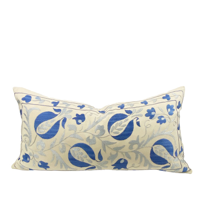 Lale Suzani Embroidered Pillow - H+E Goods Company
