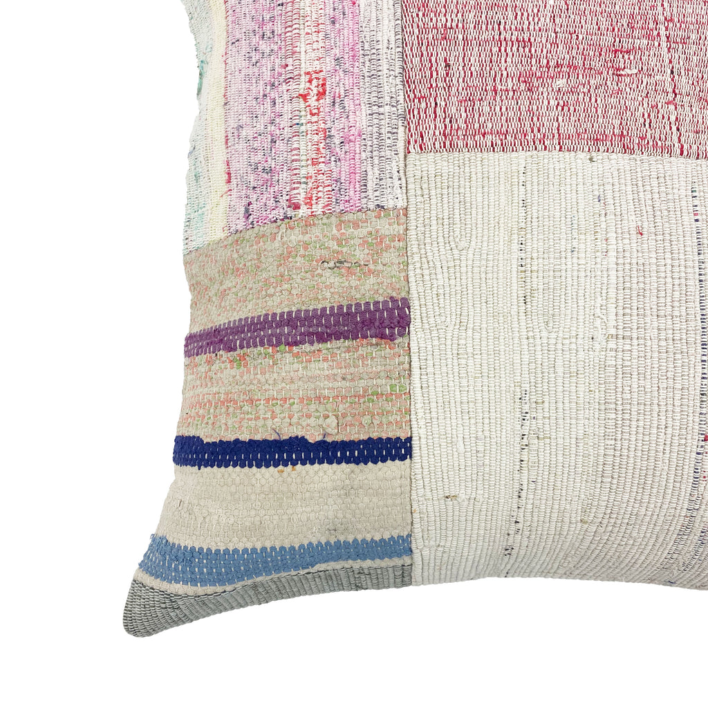 Organic Cotton Patchwork Throw Pillow - H+E Goods Company