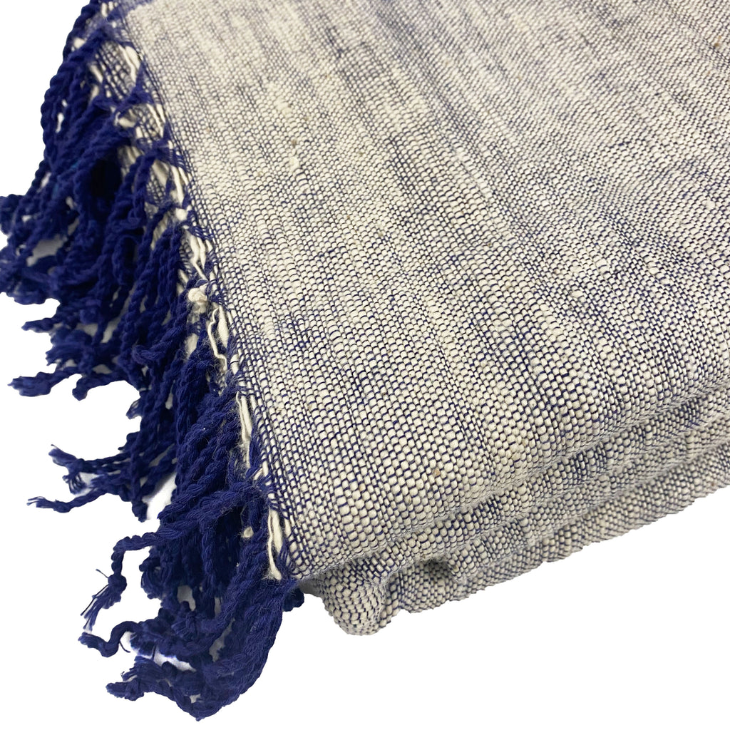 Denim Organic Cotton Throw Blanket - H+E Goods Company