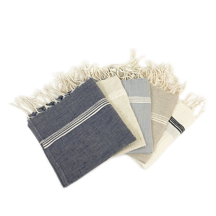 Oyster Soft Linen Hand Towel - H+E Goods Company