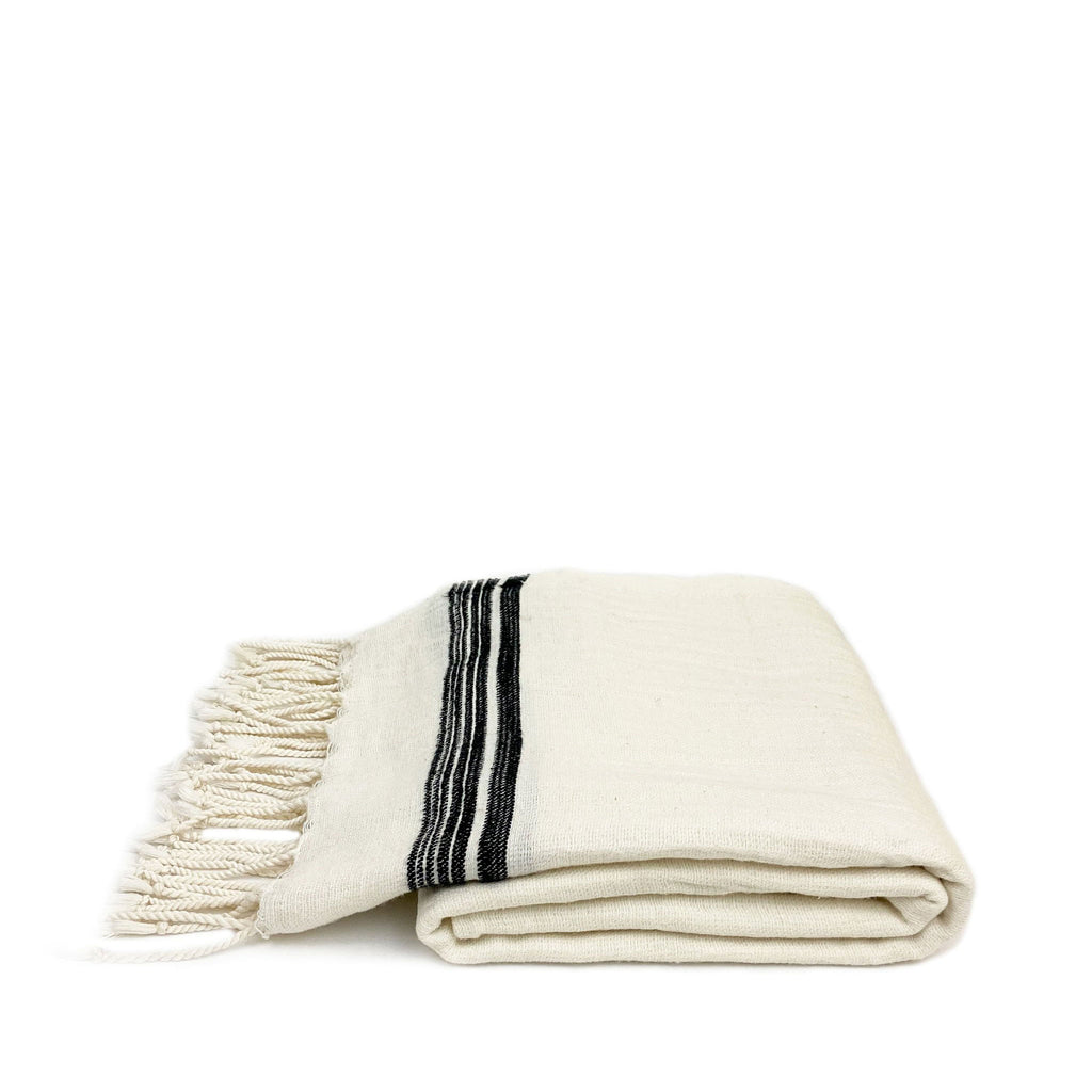 Oyster Soft Linen Turkish Towel - H+E Goods Company