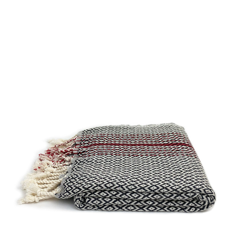 Diamond Textured Turkish Towel - H+E Goods Company