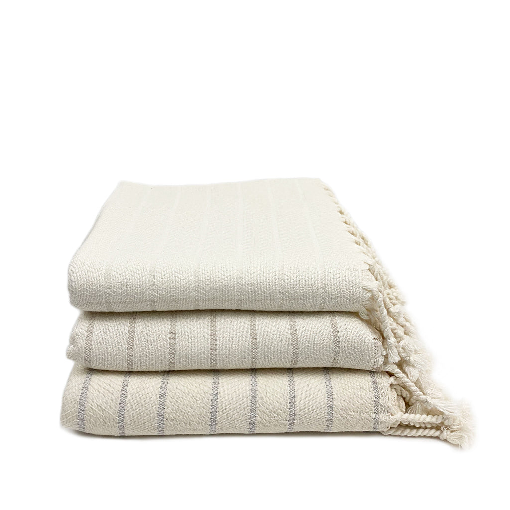 Soft Bamboo Striped Turkish Towel - H+E Goods Company