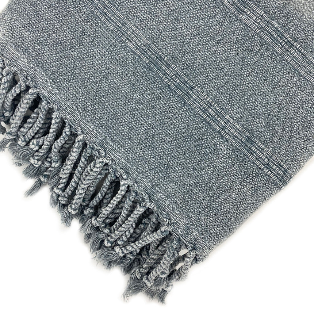 Stone Washed Striped Turkish Towel - H+E Goods Company
