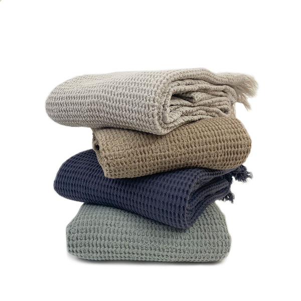 The Waffle Organic Turkish Towel - H+E Goods Company