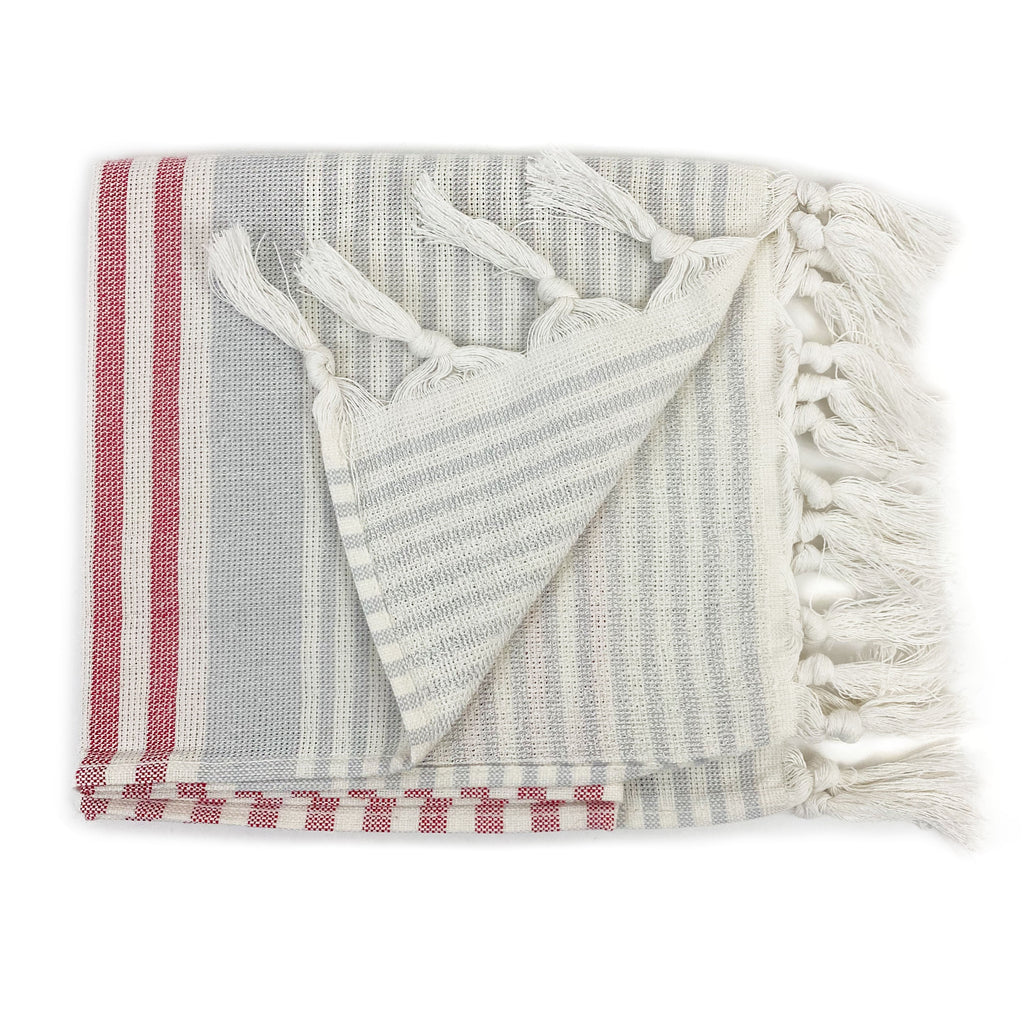 Striped Terry Hand Towel - H+E Goods Company