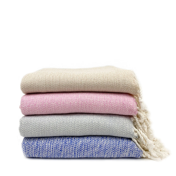 Soft Bamboo and Cotton Turkish Towel - H+E Goods Company