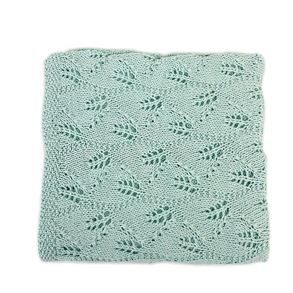 Hand Knit Organic Cotton Baby Blanket - H+E Goods Company
