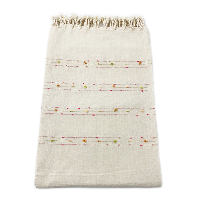 Embroidered Cotton Table Cloth - H+E Goods Company