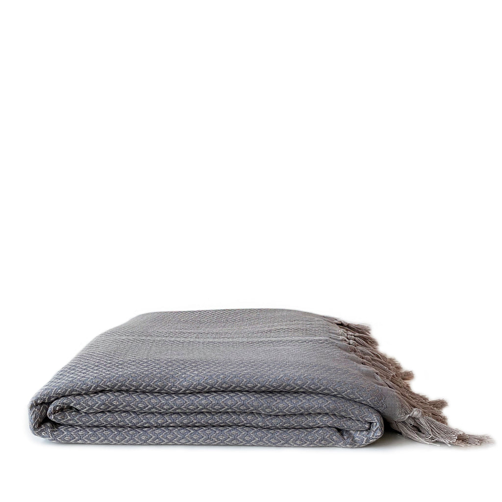 Diamond Cotton Throw Blanket - H+E Goods Company