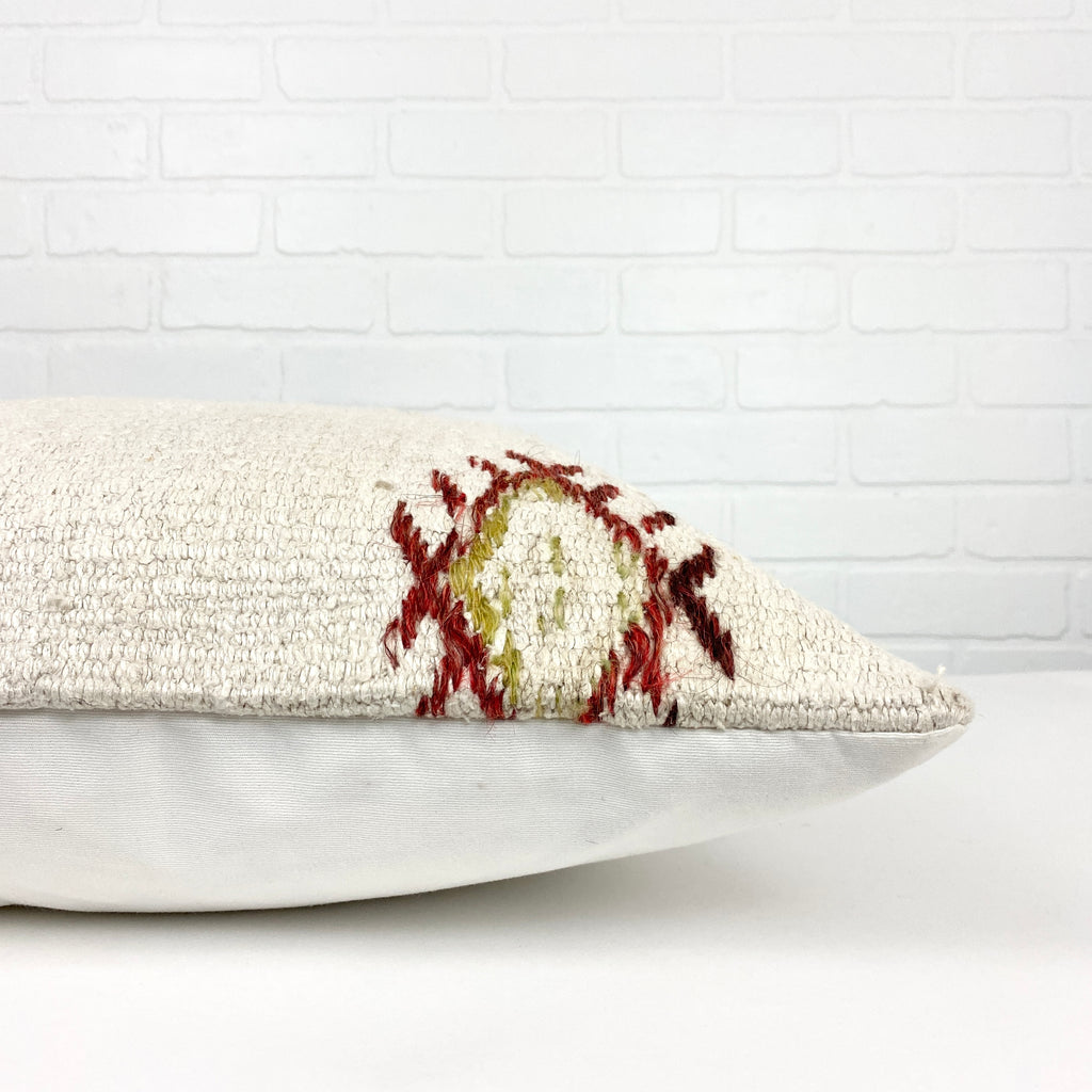 Crosby Embroidery Hemp Pillow - H+E Goods Company