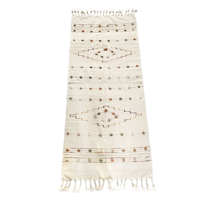 Embroidered Cotton Table Runner - H+E Goods Company