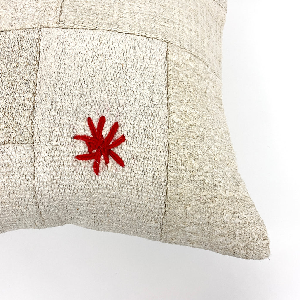 Patchwork Embroidery Hemp Pillow - H+E Goods Company
