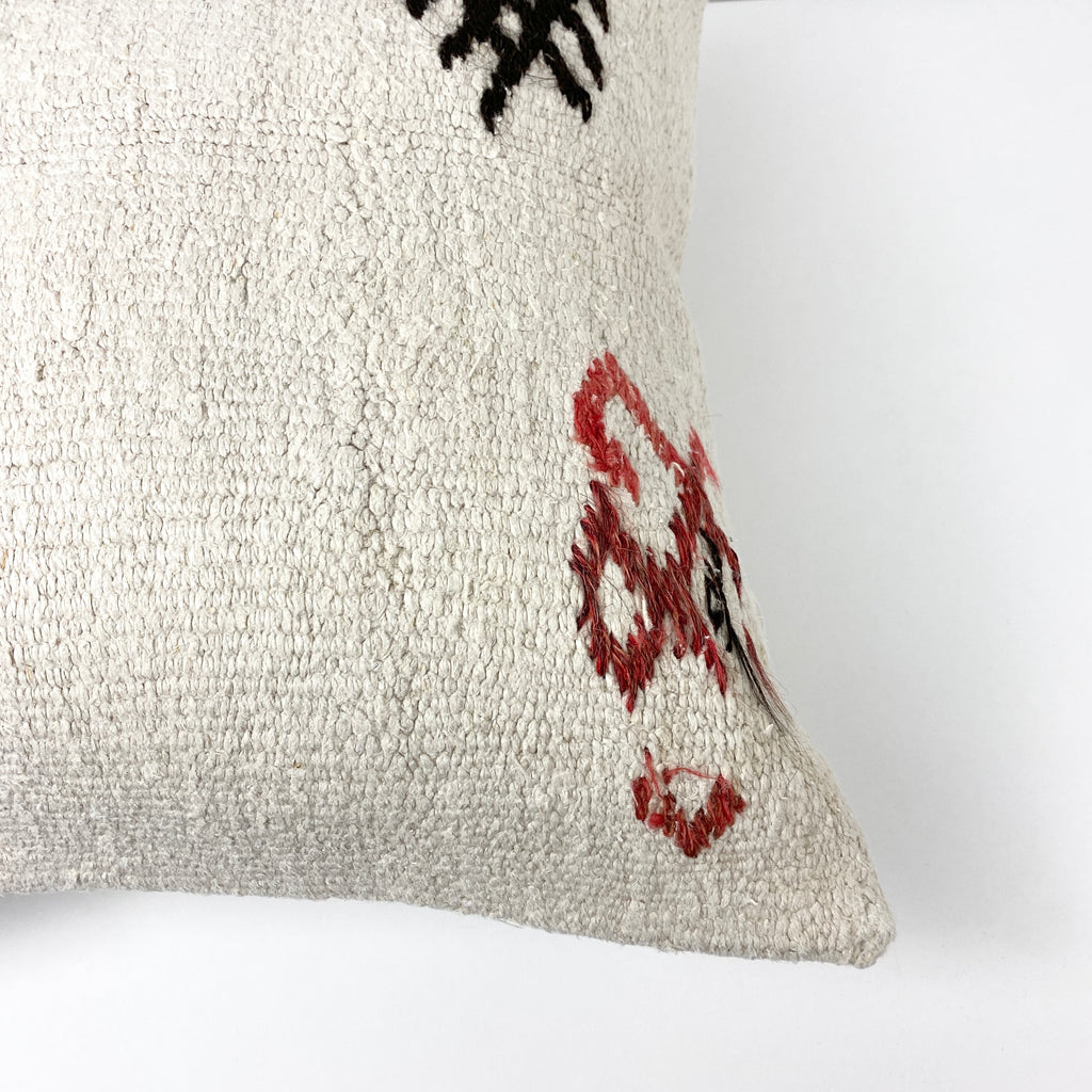 Gordyon Embroidery Hemp Pillow - H+E Goods Company
