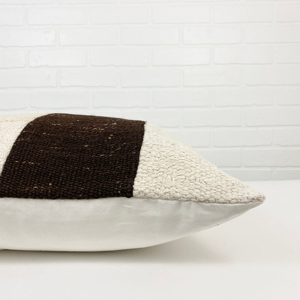 Perche Patchwork Hemp Pillow - H+E Goods Company