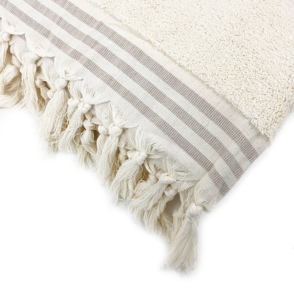 Striped Luxury Soft Spa Towel - H+E Goods Company