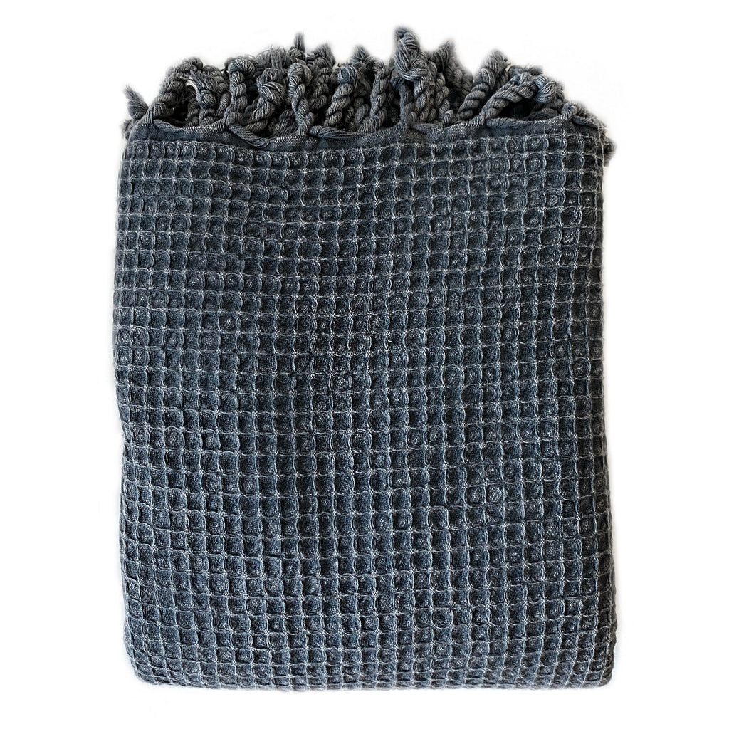 Waffle Cotton Throw Blanket - H+E Goods Company