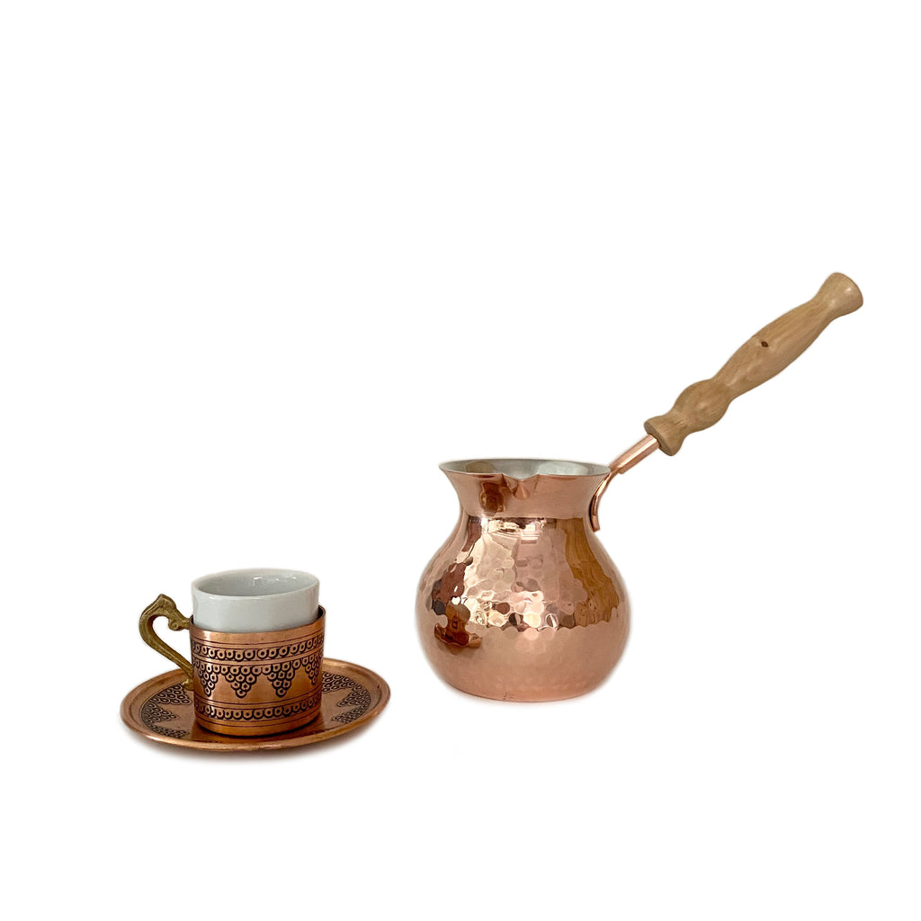 Hand hammered Turkish coffee maker - H+E Goods Company