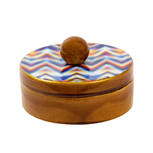 Zigzag Bowl with Lid - H+E Goods Company