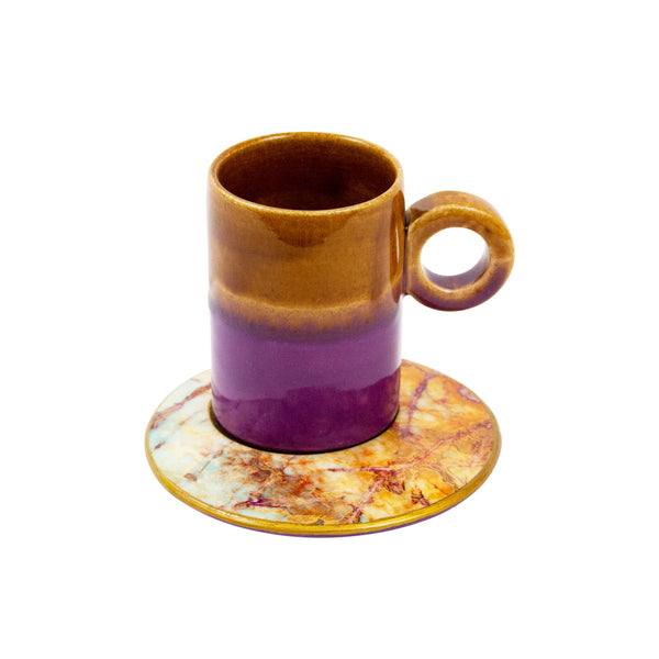 Coffee Mug with Saucer - H+E Goods Company