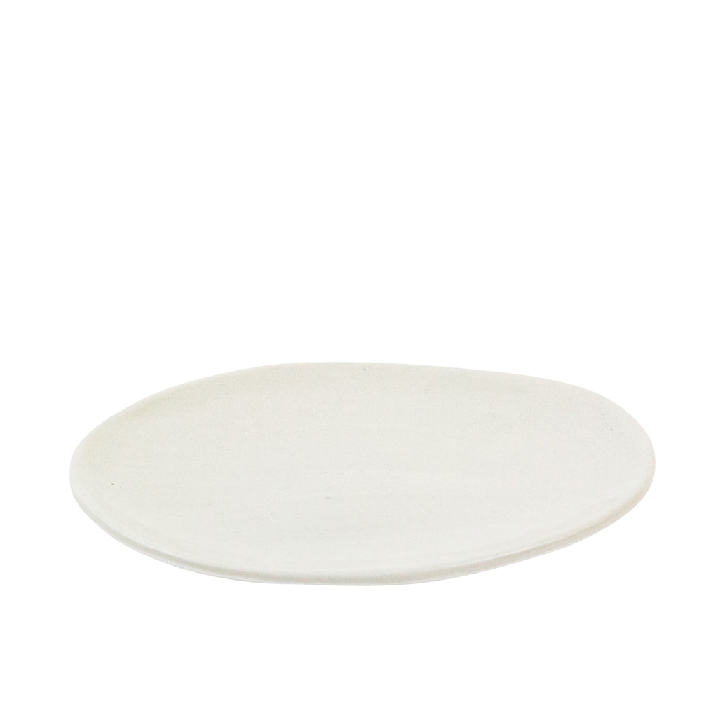 Oval Cream Ceramic Plate - H+E Goods Company