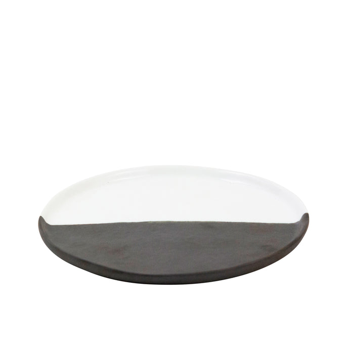 Two Tone Ceramic Plate Large - H+E Goods Company