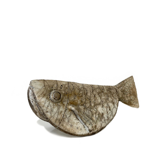 Raku Fish Ceramic Sculpture