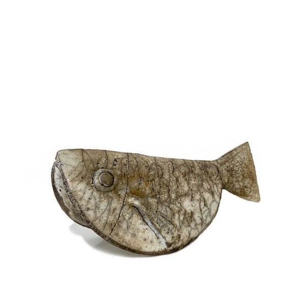 Raku Fish Ceramic Sculpture - H+E Goods Company