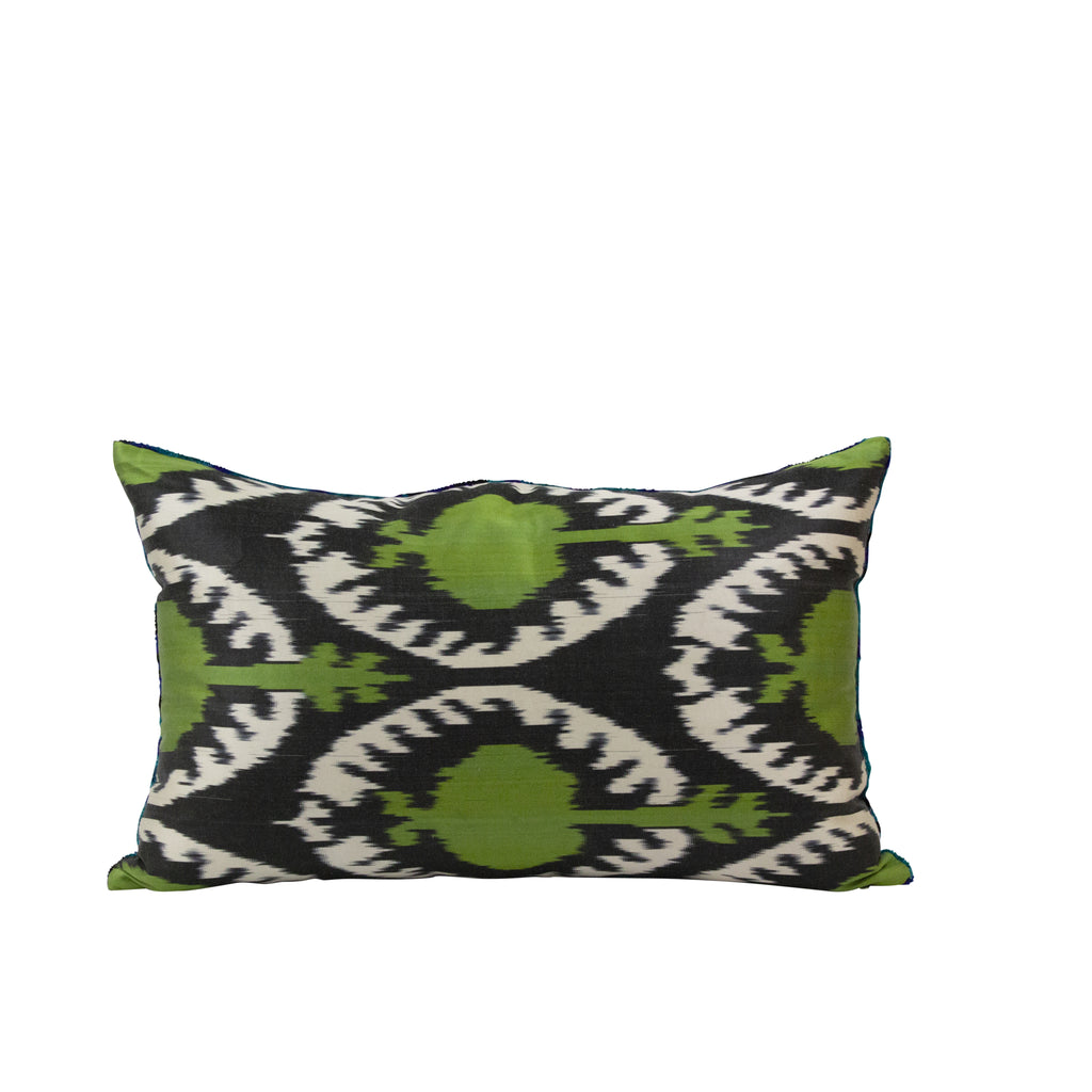 Blu Celtic Ikat Lumbar Pillow - H+E Goods Company