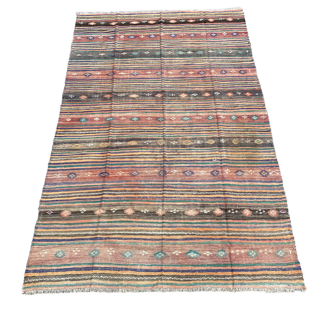 Sally Vintage Embroidered Kilim - H+E Goods Company