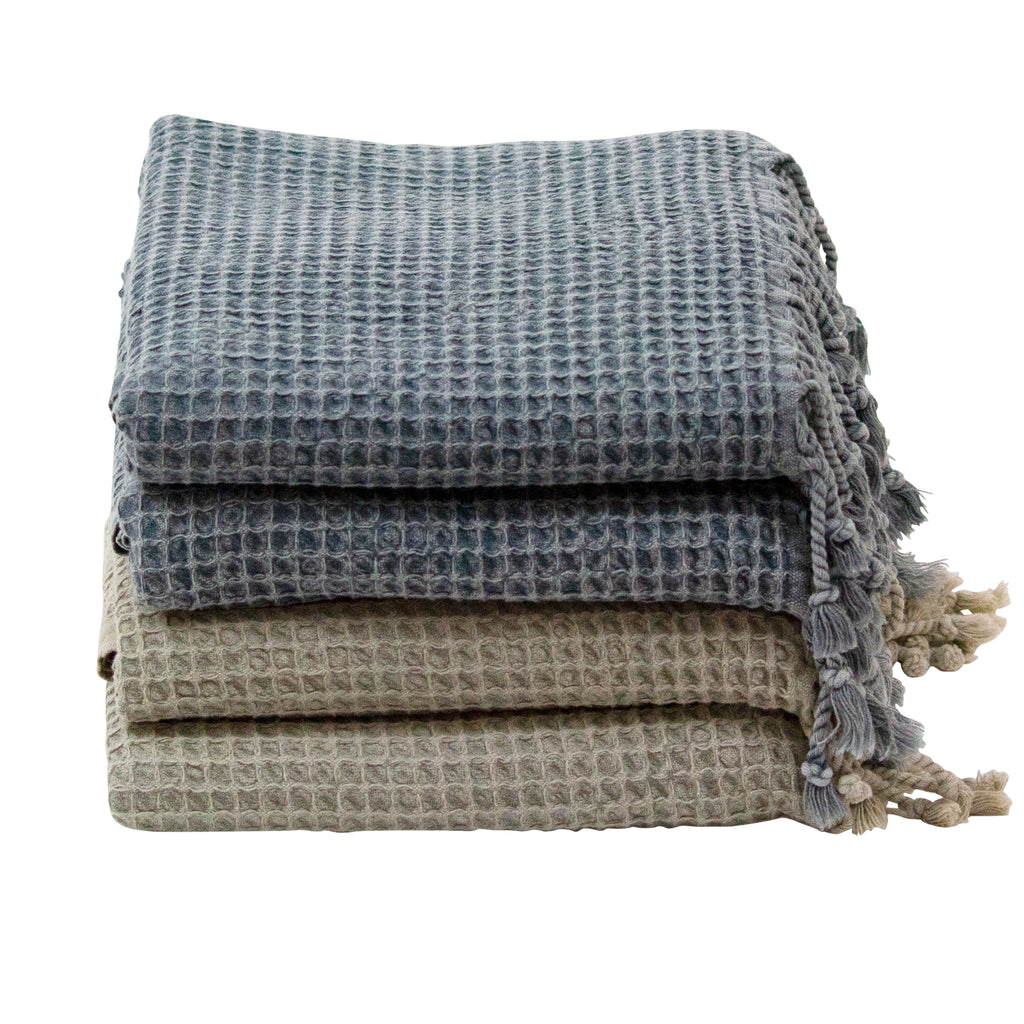 Stone Washed Waffle Turkish Towel - H+E Goods Company