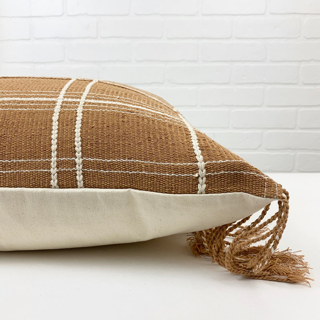 Amande Handwoven Throw Pillow - H+E Goods Company