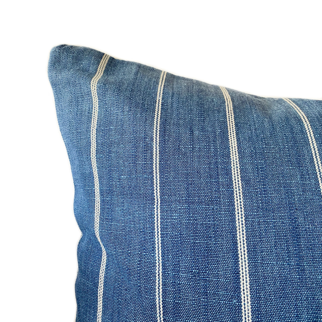Azul Striped Cotton Pillow - H+E Goods Company
