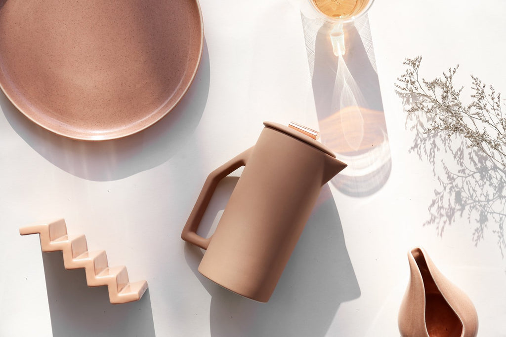 Sand Ceramic French Press - H+E Goods Company
