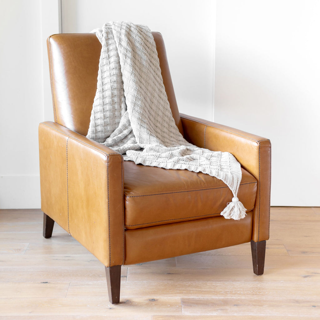 Abrams Organic Cotton Knit Throw Blanket - H+E Goods Company
