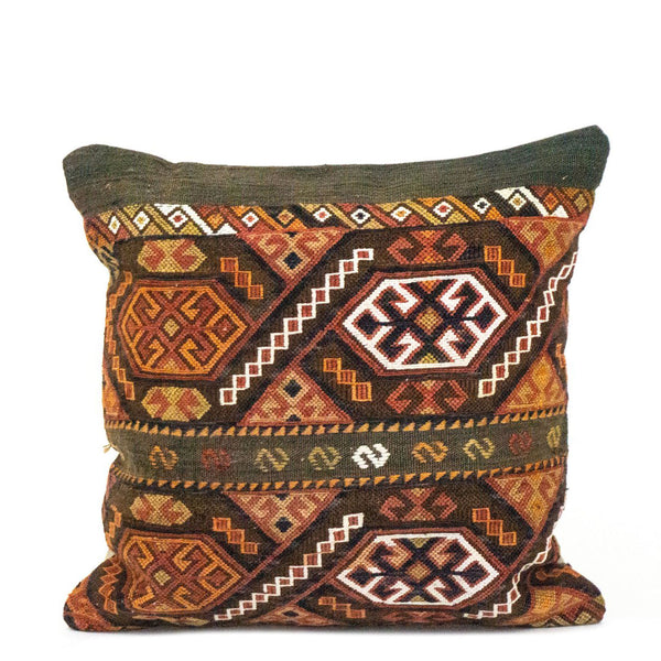 Nomad Embroidered Kilim Pillow - H+E Goods Company