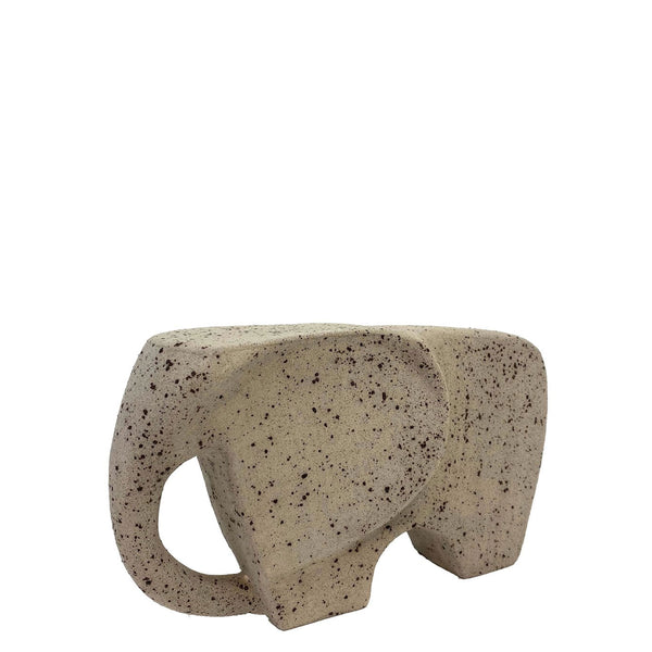 The Grey Elephant Ceramic Sculpture - H+E Goods Company