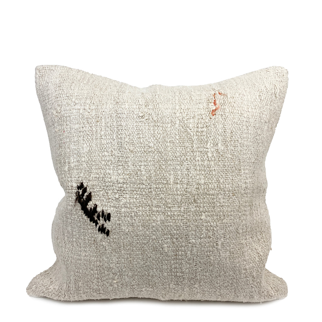 Haywood Embroidery Hemp Pillow - H+E Goods Company