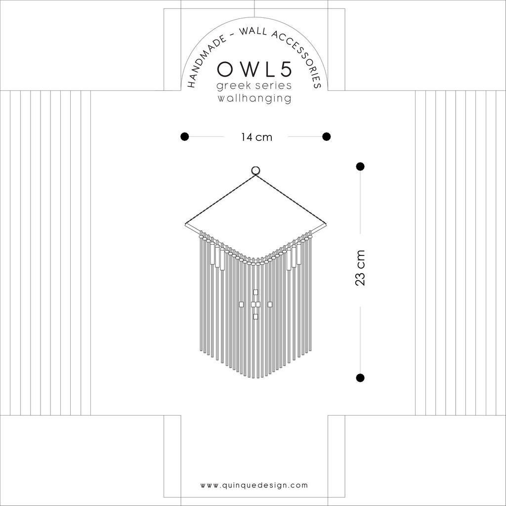 Owl Cream Wall Hanging - H+E Goods Company