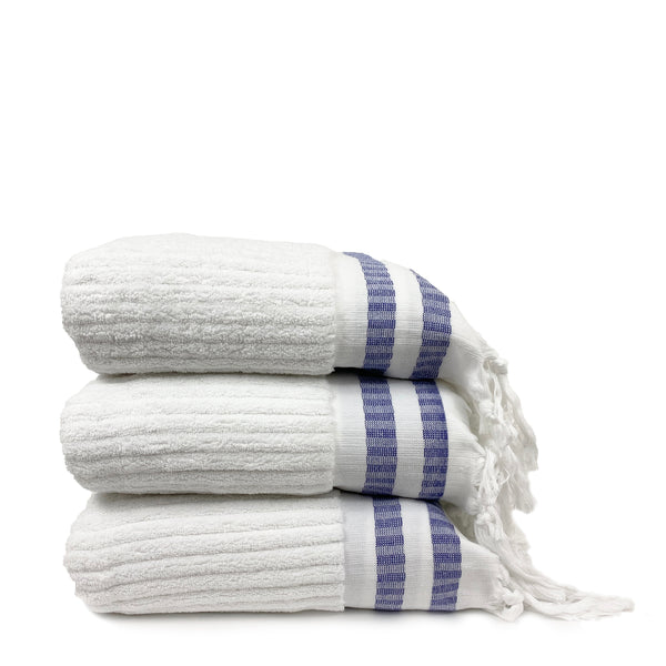 Blue Striped Towels - H+E Goods Company
