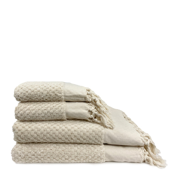 Cream Dot Towels - H+E Goods Company
