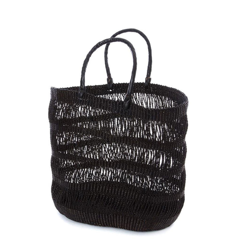 Veta Vera Lace Weave Shopper with Leather Handles - H+E Goods Company